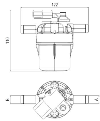Disegno tecnico filtro type 97