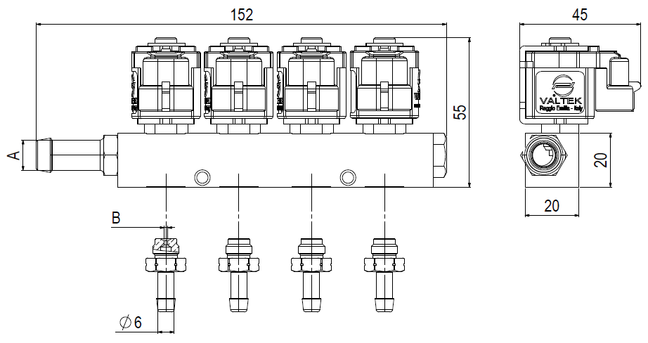 Valtek » Injectors »Injector Rail